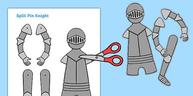 Split Pin Knight - split pin, knight, fantasy, knights and dragons, castles, warrior, history