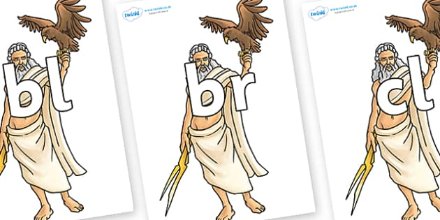 Initial Letter Blends on Zeus - Initial Letters, initial letter, letter blend, letter blends, consonant, consonants, digraph, trigraph, literacy, alphabet, letters, foundation stage literacy