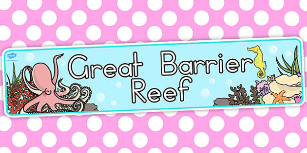 Great Barrier Reef Display Banner - australia, display, banner