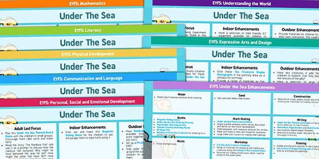 Under the Sea EYFS Lesson Plan and Enhancement Ideas - stories, story book, ideas