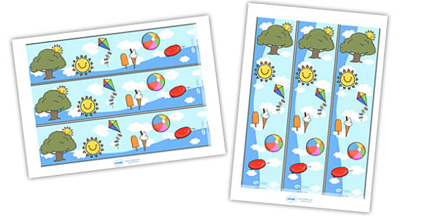 Summer Display Borders - Display border, classroom border, border, summer, seasons,  A4, display, beach, sun, flowers, ice cream, sea, seaside