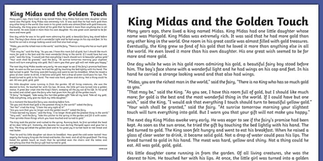 King Midas Story Print Out - king, midas, story, print out, print