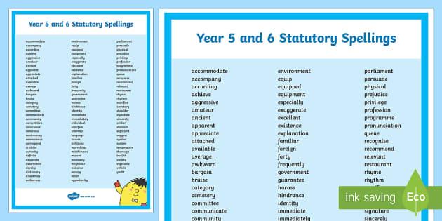 PlanIt Spelling Y5/Y6 Statutory Spelling Word Mat - Spellings Year 5, Year 6, Y5/Y5, statutory, spelling, SPaG, GPS, appendix 1, display