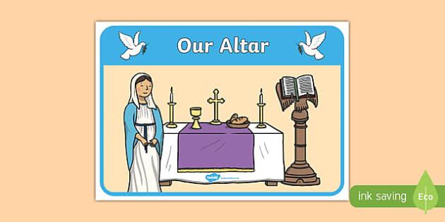 Our Altar Display Poster-Irish