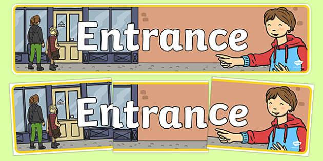 Entrance Sign Display Banner - entrance sign, display banner, display, banner, entrance, enter, sign