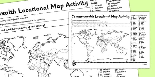 Commonwealth Locational Knowledge Map Activity - commonwealth