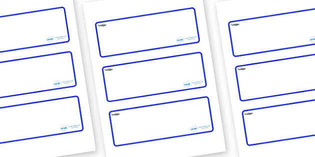 Shark Themed Editable Drawer-Peg-Name Labels (Blank) - Themed Classroom Label Templates, Resource Labels, Name Labels, Editable Labels, Drawer Labels, Coat Peg Labels, Peg Label, KS1 Labels, Foundation Labels, Foundation Stage Labels, Teaching Labels