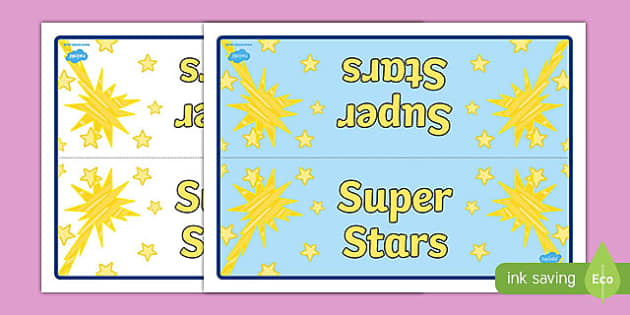 Super Stars Group Table Signs - tables, sign, groups, display
