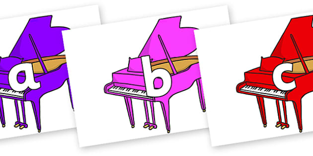 Phoneme Set on Baby Grand Pianos - Phoneme set, phonemes, phoneme, Letters and Sounds, DfES, display, Phase 1, Phase 2, Phase 3, Phase 5, Foundation, Literacy