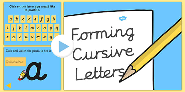 Cursive Letter Formation PowerPoint with Rhymes - cursive, letter formation, letter, formation, powerpoint, rhymes
