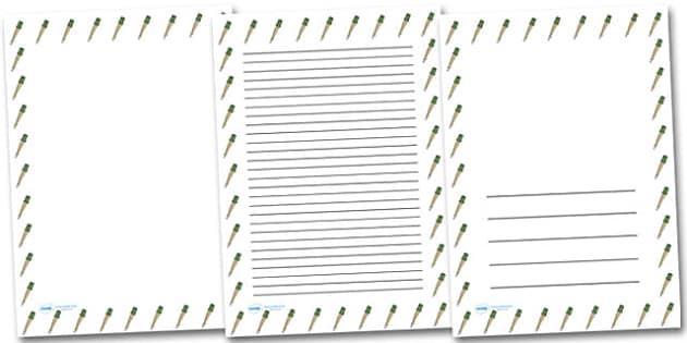 German Hand Grenade Portrait Page Borders- Portrait Page Borders - Page border, border, writing template, writing aid, writing frame, a4 border, template, templates, landscape