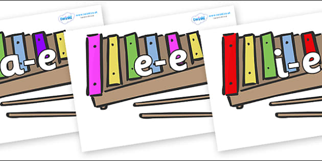 Modifying E Letters on Glockenspiels - Modifying E, letters, modify, Phase 5, Phase five, alternative spellings for phonemes, DfES letters and Sounds