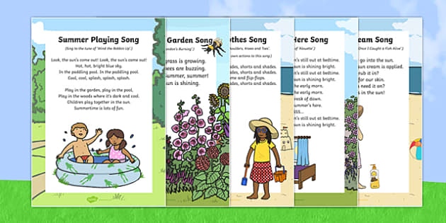 Summer-Themed Songs and Rhymes Resource Pack