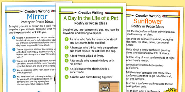 Creative Writing Prompts Posters - prompts, creative, posters