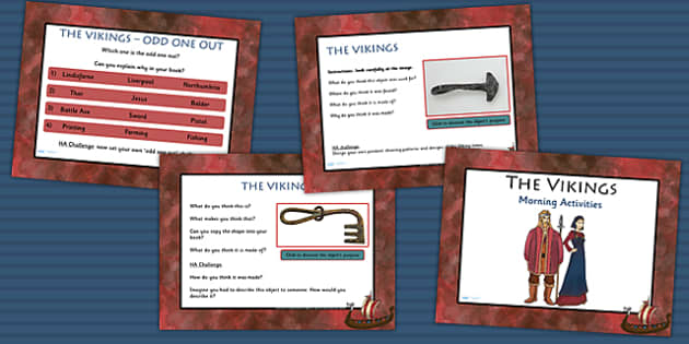 1 Week Viking Topic Morning Activities LKS2 - vikings, history