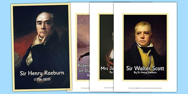 Scottish Artist Sir Henry Raeburn Photo Pack - cfe, scottish, artist, photo pack, photo, pack, sir henry raeburn