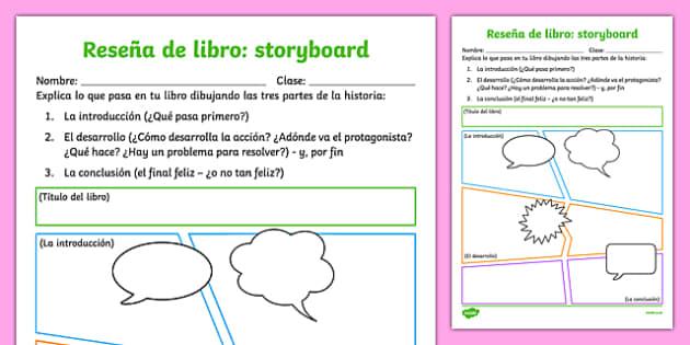Reseña de libro - storyboard-Spanish