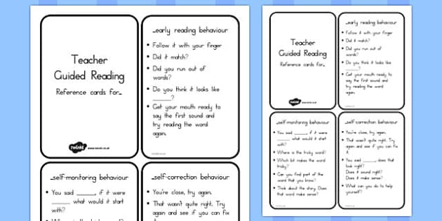 Teacher Guided Reading Reference Notes - australia, guided reading