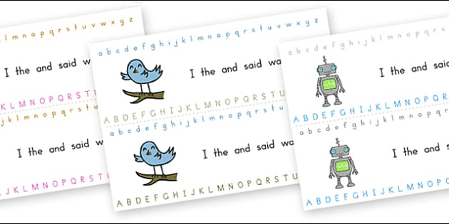 Alphabet Strips General - alphabet, a-z, visual aid, writing