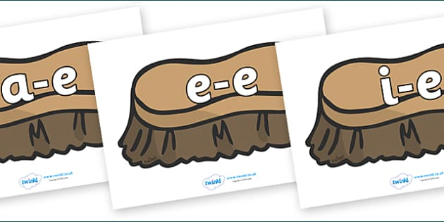 Modifying E Letters on Brush - Modifying E, letters, modify, Phase 5, Phase five, alternative spellings for phonemes, DfES letters and Sounds