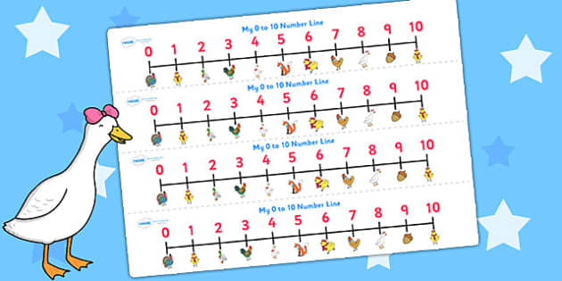 Chicken Licken Number Lines 0 10 - counting aid, count, stories