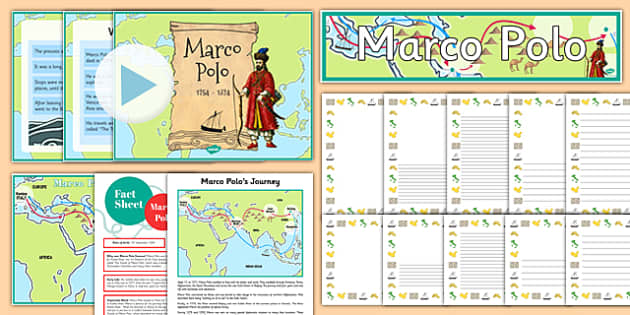 Marco Polo Lesson Pack - marco polo, lesson pack, lesson, pack, ks2