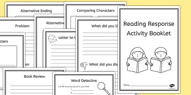 Reading Book Response Activity Booklet - reading, book, activity
