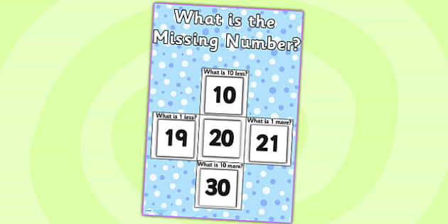 Missing Numbers Display Activity A3 - number, counting aid, count
