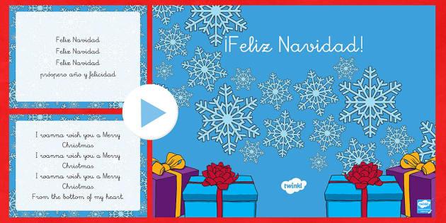 La canción   Feliz Navidad Presentación