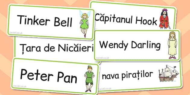 Peter Pan - Cartonașe cu imagini și cuvinte