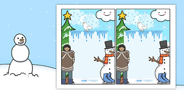 Winter Themed Editable Notes - winter, editable note, editable, notes, writing, classroom notes, themed note, teacher notes, themed page, page, winter themed