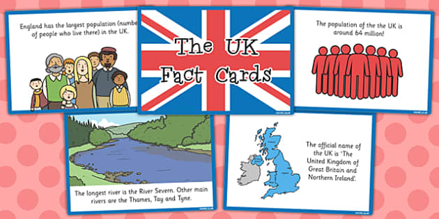 Our Country the UK Fact Cards - our country, fact, cards, uk