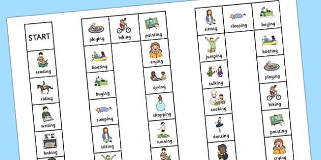 Two Syllable Final 'ng' Sound Board Game - two syllable, final ng