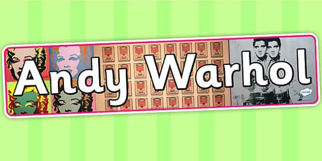 Andy Warhol Display Banner - art, artist, header, display, design