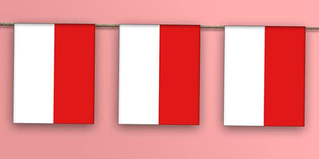 Monaco Flag Bunting - monaco flag, display bunting, display, bunting, monaco, flag