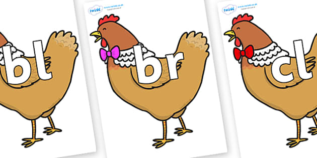 Initial Letter Blends on Henny Penny - Initial Letters, initial letter, letter blend, letter blends, consonant, consonants, digraph, trigraph, literacy, alphabet, letters, foundation stage literacy