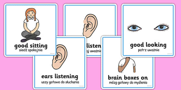 Good Listening Cards Polish Translation - polish, good listening, cards, listen, good