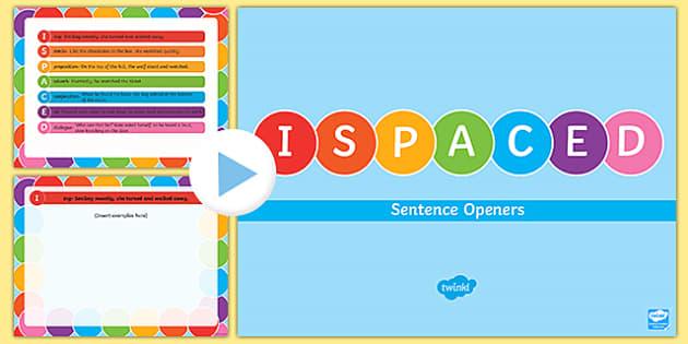 ISPACED Sentence Openers PowerPoint