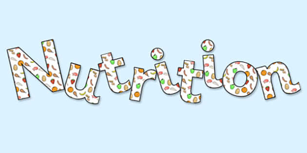 'Nutrition' Display Lettering - nutrition, nutrition lettering, nutrition display, nutrition display title, nutrition display header, health and nutrition
