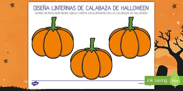 Ficha de actividad Diseña linternas de calabaza de Halloween