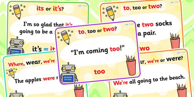 Common Grammar Mistakes Poster Set - common grammar mistakes, poster set, grammar mistakes, grammar mistakes poster, mistakes poster
