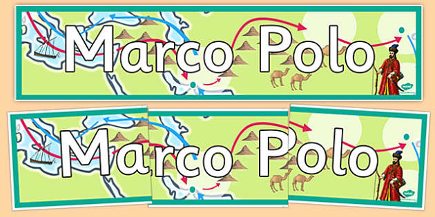 Marco Polo Display Banner - marco polo, display banner, display, banner, ks2