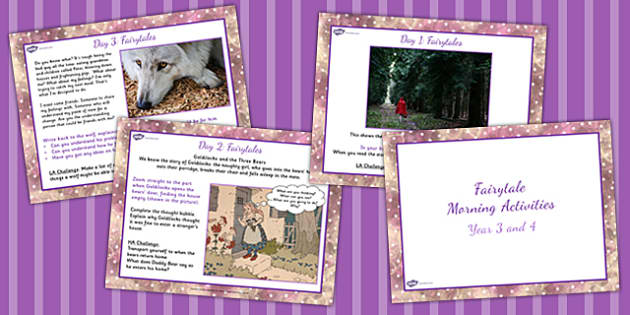 Year 3 and 4 Fairytale Writing Morning Activities - story, write