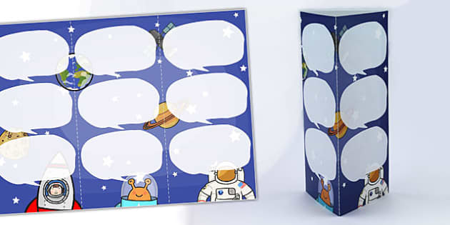 Space Themed Standing Tabletop Targets - space, space themed, tarble targets, targets, class targets, themed targets, table top targets, space targets