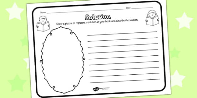 Solution Reading Comprehension Activity - solution, comprehension, comprehension worksheet, character, discussion prompt, reading, discuss, solution worksheet