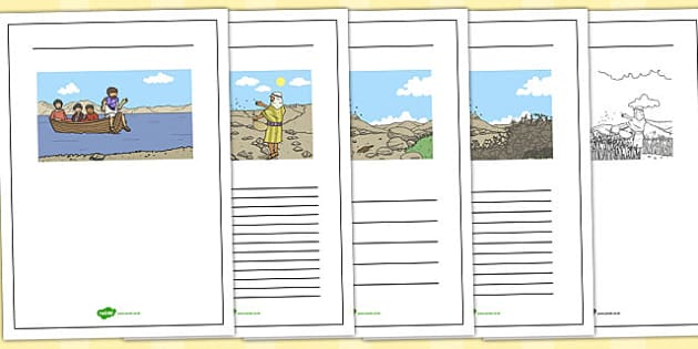The Sower and the Seeds Writing Frames - parables, sower, seeds