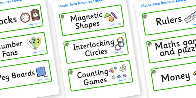 Sycamore Themed Editable Maths Area Resource Labels - Themed maths resource labels, maths area resources, Label template, Resource Label, Name Labels, Editable Labels, Drawer Labels, KS1 Labels, Foundation Labels, Foundation Stage Labels, Teaching La