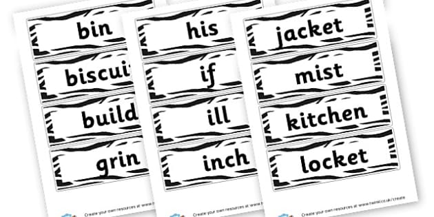 i Extended Code Word Cards - Words & Vocab Primary Resources, literacy, keywords, cvc, phonemes