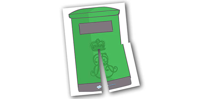 Giant Display Role Play Postbox (Irish) - post box, role play, role-play, roleplay, irish post box resource, post, mail, acting, people who help us, Gaeilge