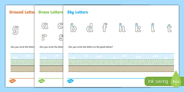 Ground, Grass and Sky Letter Writing Activity Sheet - ground, grass, sky, letter writing, letter, writing, activity, write, worksheet